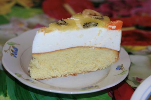 торт желейный с фруктами и бисквитом рецепт с фото