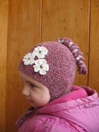 Связать своими руками шапку для девочки 81