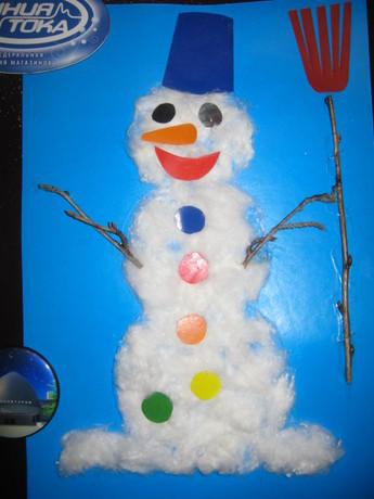 Поделки своими руками из ваты снеговика