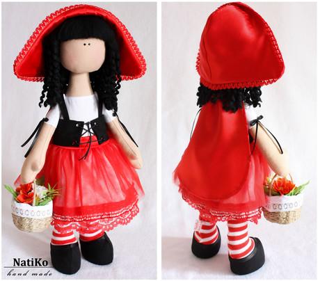 Шапочка для красной шапочки своими руками для куклы