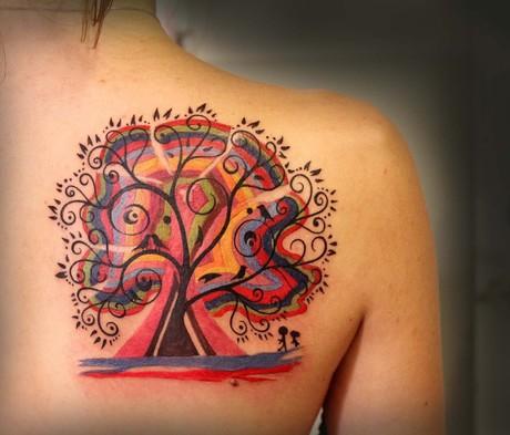 Татуировки Дерево Жизни Фото и эскизы тату
