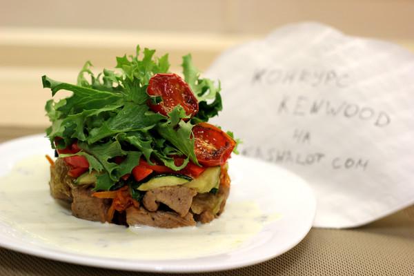 Салат с телятиной и перцем гриль 5