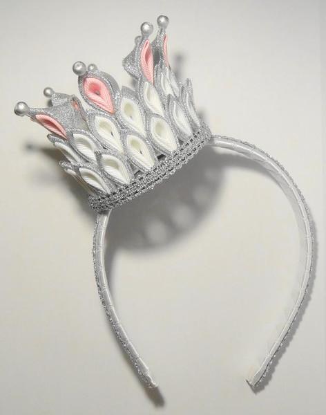 Как сделать обруч корону канзаши