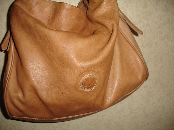 Большая кожаная сумка шоппер