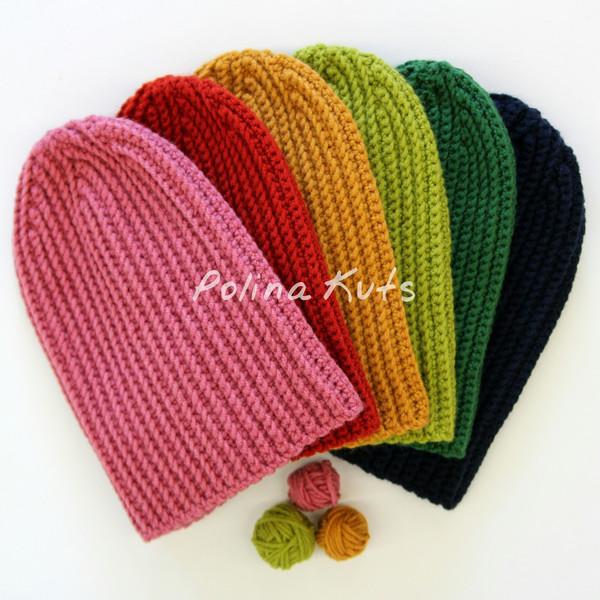 мастер класс шапка бини крючком узор резинка вязание для всех