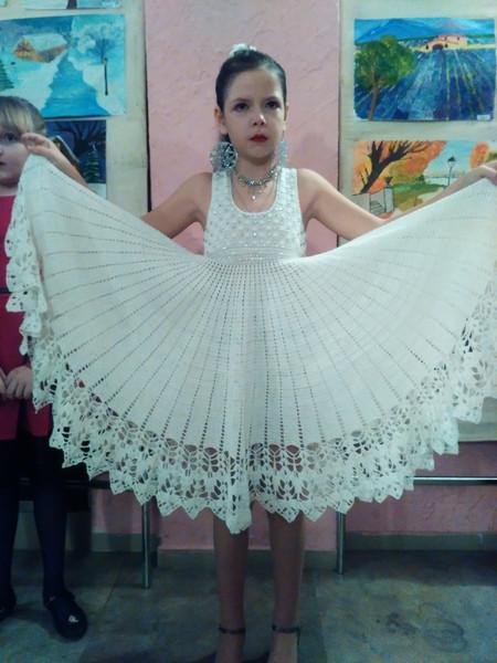 нежная снежинка платье на выступление новогодний конкурс 2017
