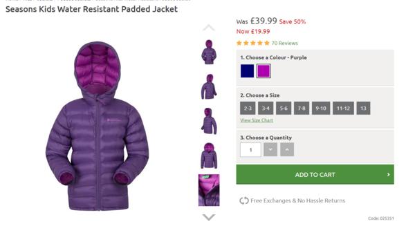 fb45965bc Зимние куртки для всей семьи Мountain warehouse со скидкой до 80 ...