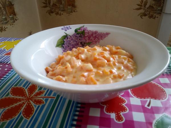 рецепт морковь в сметанном соусе