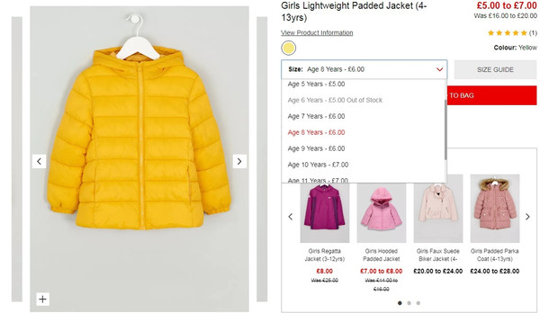 a45c807018491 https   www.matalan.co.uk product detail s2702061 c416 girls-lightweight- padded-jacket-4-13yrs-yellow
