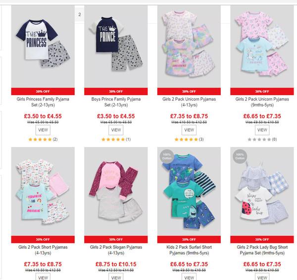011cc19ebcb37 30 % скидка на одежду детям ( уже в цене)набор пижамок мальчикам от £6.65  до £7.35 https://www.matalan.co.uk/product/detail/s2709927_c270/kids-2-pack-jungle  ...