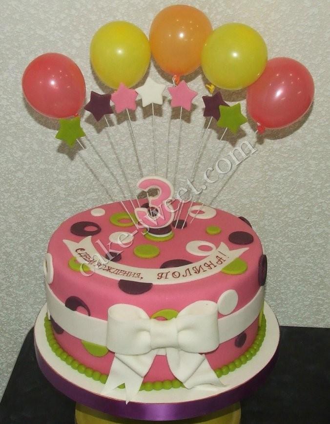 Как сделать украшение шарики на торт